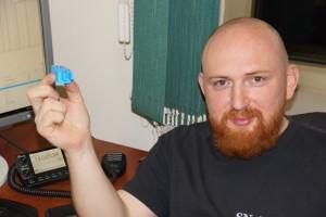 Tomek i wydrukowany na drukarce 3D klucz telegraficzny
